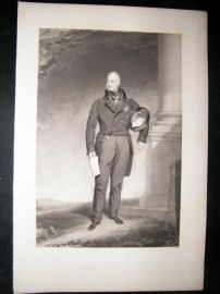 After Thomas Lawrence 1836 Folio Mezzotint Portrait. King William IV